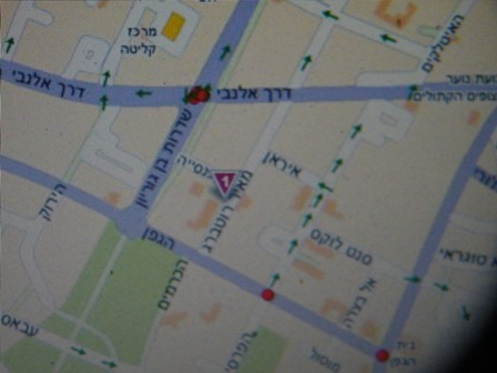 מפת ההגעה לגלריה